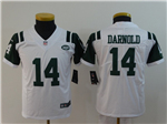 New York Jets #14 Sam Darnold Youth White Vapor Untouchable Limited Jersey