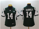 New York Jets #14 Sam Darnold Women's Green Vapor Untouchable Limited Jersey