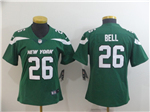 New York Jets #26 Le'Veon Bell Women's 2019 New Green Vapor Untouchable Limited Jersey