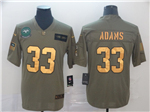 New York Jets #33 Jamal Adams 2019 Olive Gold Salute To Service Limited Jersey