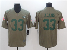 New York Jets #33 Jamal Adams 2017 Olive Salute To Service Limited Jersey