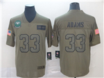 New York Jets #33 Jamal Adams 2019 Olive Salute To Service Limited Jersey