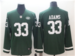 New York Jets #33 Jamal Adams Green Therma Long Sleeve Jersey