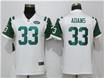 New York Jets #33 Jamal Adams Women's White Vapor Untouchable Limited Jersey