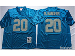 Detroit Lions #20 Barry Sanders Throwback Light Blue Jersey