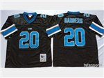 Detroit Lions #20 Barry Sanders Throwback Black Jersey