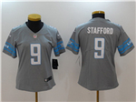 Detroit Lions #9 Matthew Stafford Women's Gray Vapor Untouchable Limited Jersey