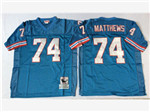 Houston oilers #74 Bruce Matthews Throwback Blue Jersey