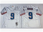 Tennessee Oiler #9 Steve McNair 1997 Throwback White Jersey