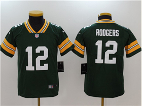 Green Bay Packers #12 Aaron Rodgers Youth Green Vapor Untouchable Limited Jersey
