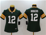 Green Bay Packers #12 Aaron Rodgers Women's Green Vapor Untouchable Limited Jersey