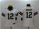 Green Bay Packers #12 Aaron Rodgers Women's White Vapor Untouchable Limited Jersey