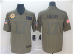 Green Bay Packers #17 Davante Adams 2019 Olive Salute To Service Limited Jersey