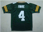 Green Bay Packers #4 Brett Favre Throwback Green Jersey