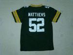 Green Bay Packers #52 Clay Matthews Youth Green Jersey