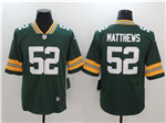 Green Bay Packers #52 Clay Matthews Green Vapor Untouchable Limited Jersey