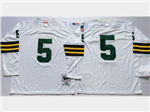 Green Bay Packers #5 Paul Hornung 1961 Throwback White Jersey