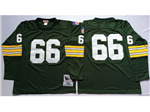 Green Bay Packers #66 Ray Nitschke 1969 Throwback Green Jersey