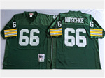 Green Bay Packers #66 Ray Nitschke 1966 Throwback Green Jersey