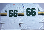 Green Bay Packers #66 Ray Nitschke 1969 Throwback White Jersey