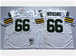 Green Bay Packers #66 Ray Nitschke 1966 Throwback White Jersey