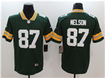 Green Bay Packers #87 Jordy Nelson Green Vapor Untouchable Limited Jersey