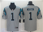 Carolina Panthers #1 Cam Newton Gray Inverted Limited Jersey