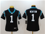 Carolina Panthers #1 Cam Newton Women's Black Vapor Untouchable Limited Jersey