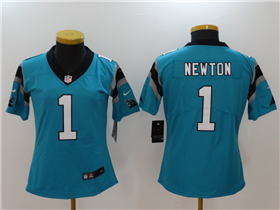 Carolina Panthers #1 Cam Newton Women's Blue Vapor Untouchable Limited Jersey