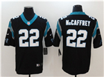 Carolina Panthers #22 Christian McCaffrey Black Vapor Untouchable Limited Jersey