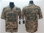 Carolina Panthers #22 Christian McCaffrey 2018 Camo Salute To Service Limited Jersey