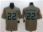 Carolina Panthers #22 Christian McCaffrey 2017 Olive Salute To Service Limited Jersey