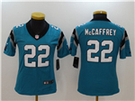 Carolina Panthers #22 Christian McCaffrey Women's Blue Vapor Untouchable Limited Jersey