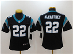 Carolina Panthers #22 Christian McCaffrey Women's Black Vapor Untouchable Limited Jersey
