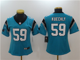 Carolina Panthers #59 Luke Kuechly Women's Blue Vapor Untouchable Limited Jersey