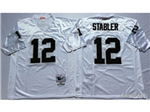 Oakland Raiders #12 Ken Stabler 1976 Throwback White Jersey