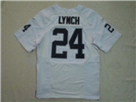Oakland Raiders #24 Marshawn Lynch Elite White Jersey