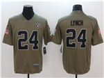 Oakland Raiders #24 Marshawn Lynch 2017 Olive Salute To Service Limited Jersey
