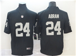 Oakland Raiders #24 Johnathan Abram Black Vapor Untouchable Limited Jersey