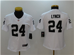 Oakland Raiders #24 Marshawn Lynch Women's White Vapor Untouchable Limited Jersey