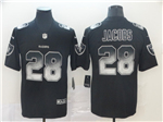 Oakland Raiders #28 Josh Jacobs Black Arch Smoke Limited Jersey
