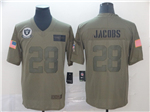 Oakland Raiders #28 Josh Jacobs 2019 Olive Salute To Service Limited Jersey