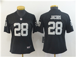 Oakland Raiders #28 Josh Jacobs Women's Black Vapor Untouchable Limited Jersey