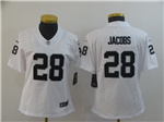 Oakland Raiders #28 Josh Jacobs Women's White Vapor Untouchable Limited Jersey