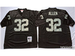 Los Angeles Raiders #32 Marcus Allen Throwback Black Jersey