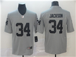 Oakland Raiders #34 Bo Jackson Gray Inverted Limited Jersey