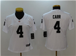 Oakland Raiders #4 Derek Carr Women's White Vapor Untouchable Limited Jersey