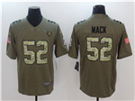 Oakland Raiders #52 Khalil Mack 2017 Olive Camo Salute To Service Limited Jersey