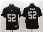 Oakland Raiders #52 Khalil Mack Youth Black Vapor Untouchable Limited Jersey