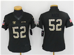 Oakland Raiders #52 Khalil Mack Anthracite Women's Salute to Service Jersey